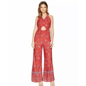 Minkpink Lucia Floral Halter Jumpsuit Small NWT